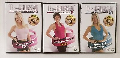 NEW The Firm BODY SCULPTING SYSTEM 2: 3 WORKOUT DVDs+FREE Fitness Health BONUSES