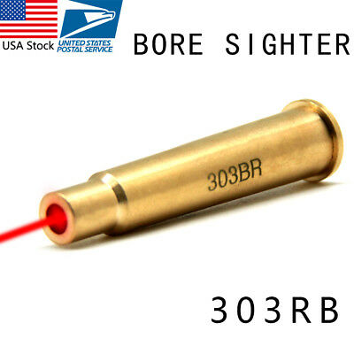 Red Laser Bore Sighter 303BR Sight Brass Boresight Laser For Airsoft Hunting US
