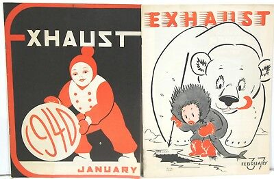 Three Issues of Exhaust Magazine 1937 – 1940 ~ Automotive Industry