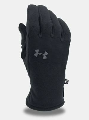Under Armour Fleece Survivor Coldgear Men's Gloves Size : MD Black Infrared P5