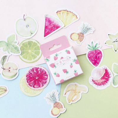46pcs Fresh Fruit Paper Sticker Decor DIY Craft Diary Scrapbooking Planner Label