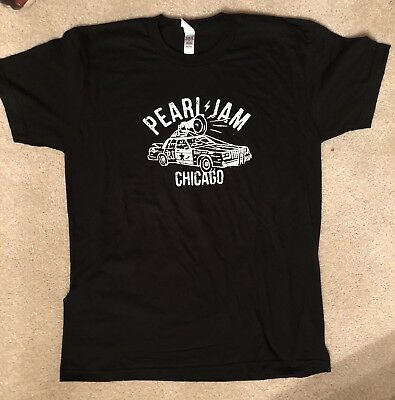 PEARL JAM - Chicago Wrigley Field Show tee Sold Out!  Blues Brothers Size L