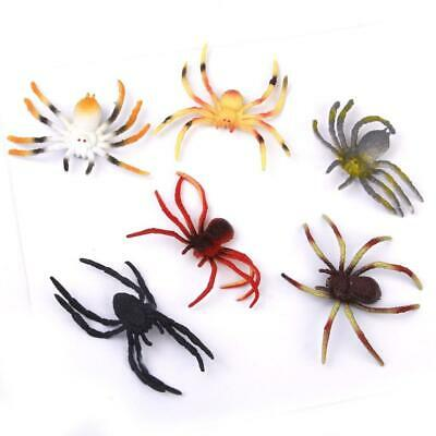 6pcs Plastic Spider Model Halloween Pretend Trick Toy Kids Party Bag Fillers