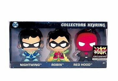 Dc Comics Monogram Red Hood Robin Nightwing Keychain Set Zapp Comics Exclusive