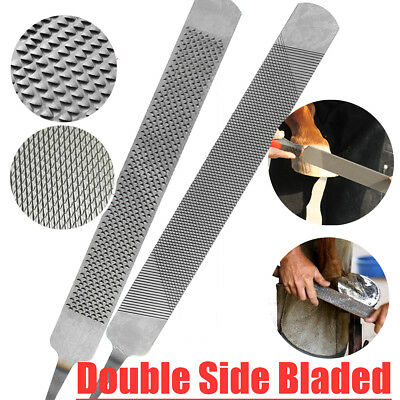 Hoof Rasp Double Side End Bladed Horse Farrier Horseshoe Trimming File Tools