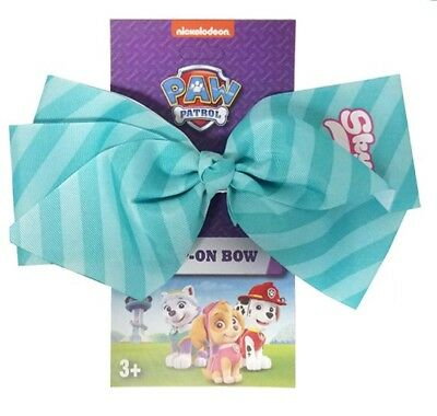 Nickelodeon Paw Patrol Skye Clip-On Bow Hair Accessory Blue Striped