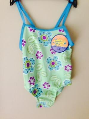 Green Girls Toddler Swimming Costume Size 2 BNWT CLEARANCE SALE