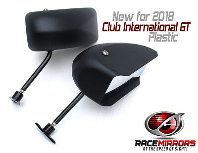 Auto Racing Mirrors - CLUB INTERNATIONAL GT plastic - 5.9x2.8in - SCCA & NASA