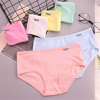 Breathable Stretchy Cotton Women's Underwear Briefs Panties Knickers Underpants