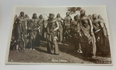 Masai Dance Woman NUDE EAST AFRICA, PHOTO POSTCARD  c. -1940's  F & P ANDERSON
