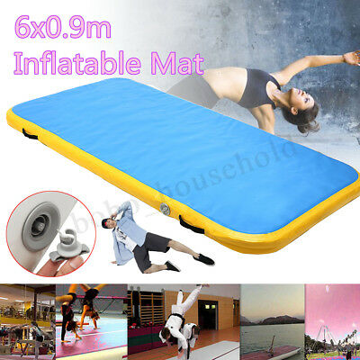 6x0.9x0.1m AirTrack Inflatable Air Track Tumbling Floor Home Gymnastics Mat Gym