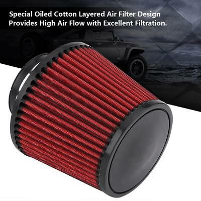 """Universal 3"""" Car Air Filter Cleaner Intake High Flow Short RAM/COLD Round Cone"""