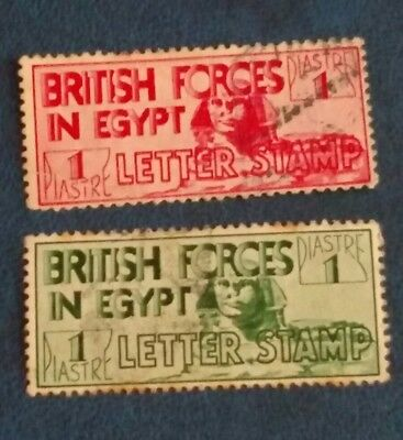 British Forces in Egypt 2 STAMPS KGV 1934 Sphinx, 1 Pi Very Rare