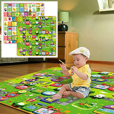 Baby Kids Infant Crawl Play Game Picnic Mat Letter Alphabet Printing Carpet Orna