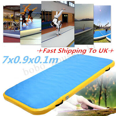 7x0.9x0.1m AirTrack Inflatable Air Track Tumbling Floor Home Gymnastics Mat GYM