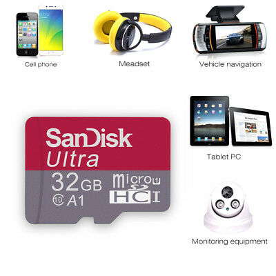 SanDisk 32GB Micro SD SDHC Class 10 TF Flash Memory Card With Adapter NEW