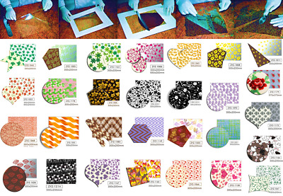 Chocolate Transfer Sheet (Mix Pack 6 pieces) Edible for Decorations