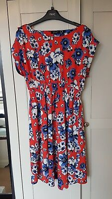 New Look maternity pansy skater dress size 16
