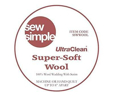 Sew Simple Wool Supersoft Quilt Wadding 3m x 90