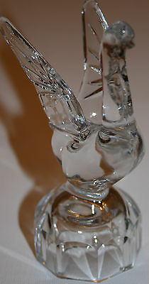 Auth Antique Soviet Union/USSR 1950s Crystal Swan Decanter Top Russian Cut Glass