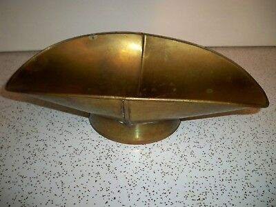 """Antique Brass Metal Scale Pan Vintage Candy Tray General Store 11 1/4"""" X 6 1/4"""""""