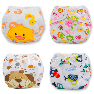 Babies Toddler Adjustable Swim Nappy Diapers Leakproof Reusable Washable best-AU