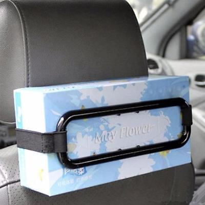 Car Tissue Paper Box Napkin Case Holder Black Sun Visor Back Seat-Organise-