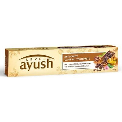 Lever Ayush Anti Cavity Clove Oil Toothpaste (Relieves Toothache) 150 g
