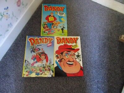 3 Dandy Annuals 1992, 93 And 1994- Dc Thomson