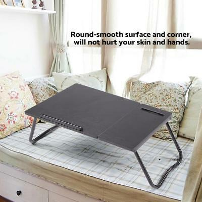 Laptop PC Desk Bed Cup Holder Table Lap Tray With Slot Portable Foldable for Bed