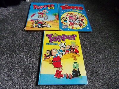 3 TOPPER annuals  1991 1992. and 1993  DC Thomson