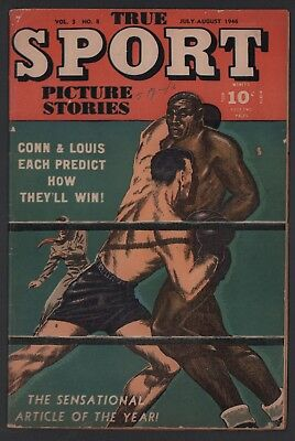 True Sport Picture Stories Vol 3 #8 VG- Cream to Off White Pages Joe Louis Cvr