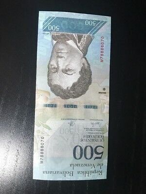 Venezuela 500 Bolivares Note, Brand New, Real Currency