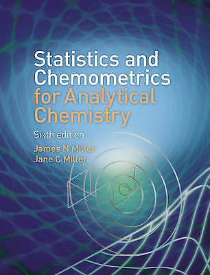 Statistics and Chemometrics for Analytical Chemistry by Jane C Miller, James...