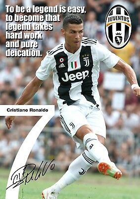 Copy A3-420mm x 297mm NEW Ronaldo Juventus Poster Motivational #32 Signed