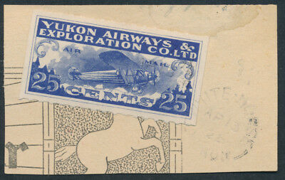 Canada #CL42 Yukon Airways 25c Semi-Official, Used on Whitehorse Star Piece