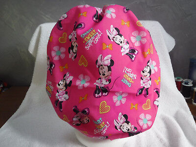 Bouffant surgical scrub hat cap medical chef disney minnie mouse pink