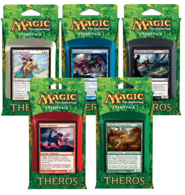 Magic the Gathering (MTG) Theros - Set of 5 Factory Sealed Into Decks