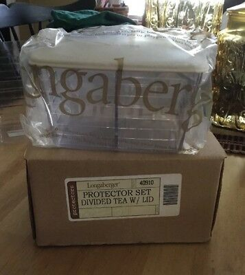 Longaberger Protector Set - Divided Tea with Lid - New in box