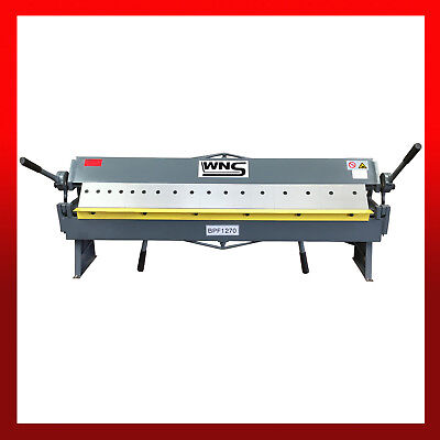 WNS Hand Sheet Metal Bender Box and Pan Folder 1270mm Length x 1.5mm Capacity