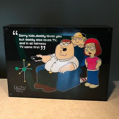 Family Guy Lighted Sign Daddy Loves TV Peter, Chris and Meg Griffin