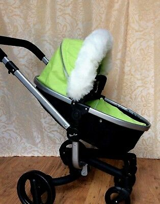 Fur Hood Trim for Dolls Prams White, Silver, Black , Pink, black/ grey