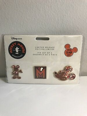Disney Mickey Mouse Memories Pin Set July 2018 Limited Release Brand New In-Hand