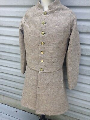 """CJ Daley made Confederate Frock Coat Size 40"""" chest."""