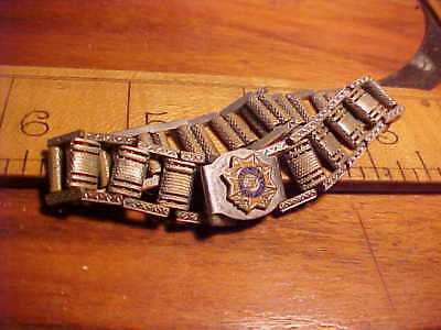 Vfw Auxiliary Braclet  Old Vintage Link Style 7 Inches Long