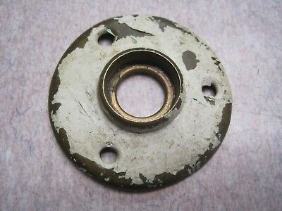 Old Heavy Cast  Brass  Bronze 2 1/16 Door Knob Rosette Escutcheon Nice #1