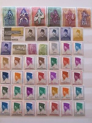 Indonesia mint NH stamp collection