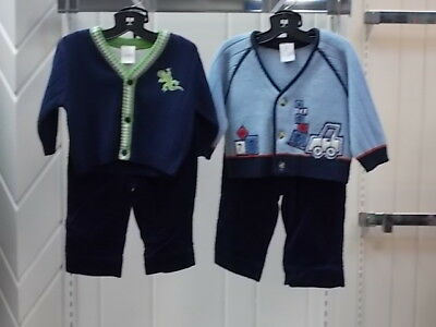 Infant Boys Size 3-6 Mth. Assorted Sweater Top W/T Corduroy Pants 2PC. Sets