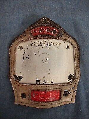 Leather Cairns & Bros. Helmet Shield - Unknown Fire Department - Lt. Truck 3
