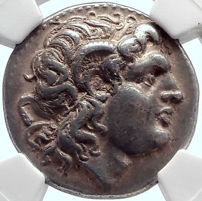 LYSIMACHOS 297BC Ancient Silver Greek Tetradrachm Coin w ALEXANDER the GREAT NGC